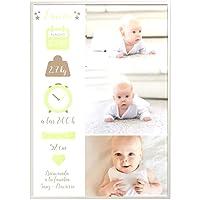 Didart Handmade Regalo para bebé. Cuadro bebe personalizado. Datos de nacimiento. Bautizo Cesta de bebé. Natalicio…