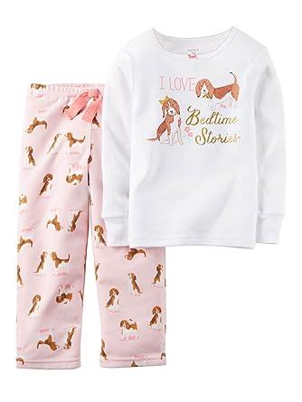 0a52c7d53363 Amazon.com  Carter s Little Girls 2 Piece Cotton Fleece PJs -Dogs (4 ...