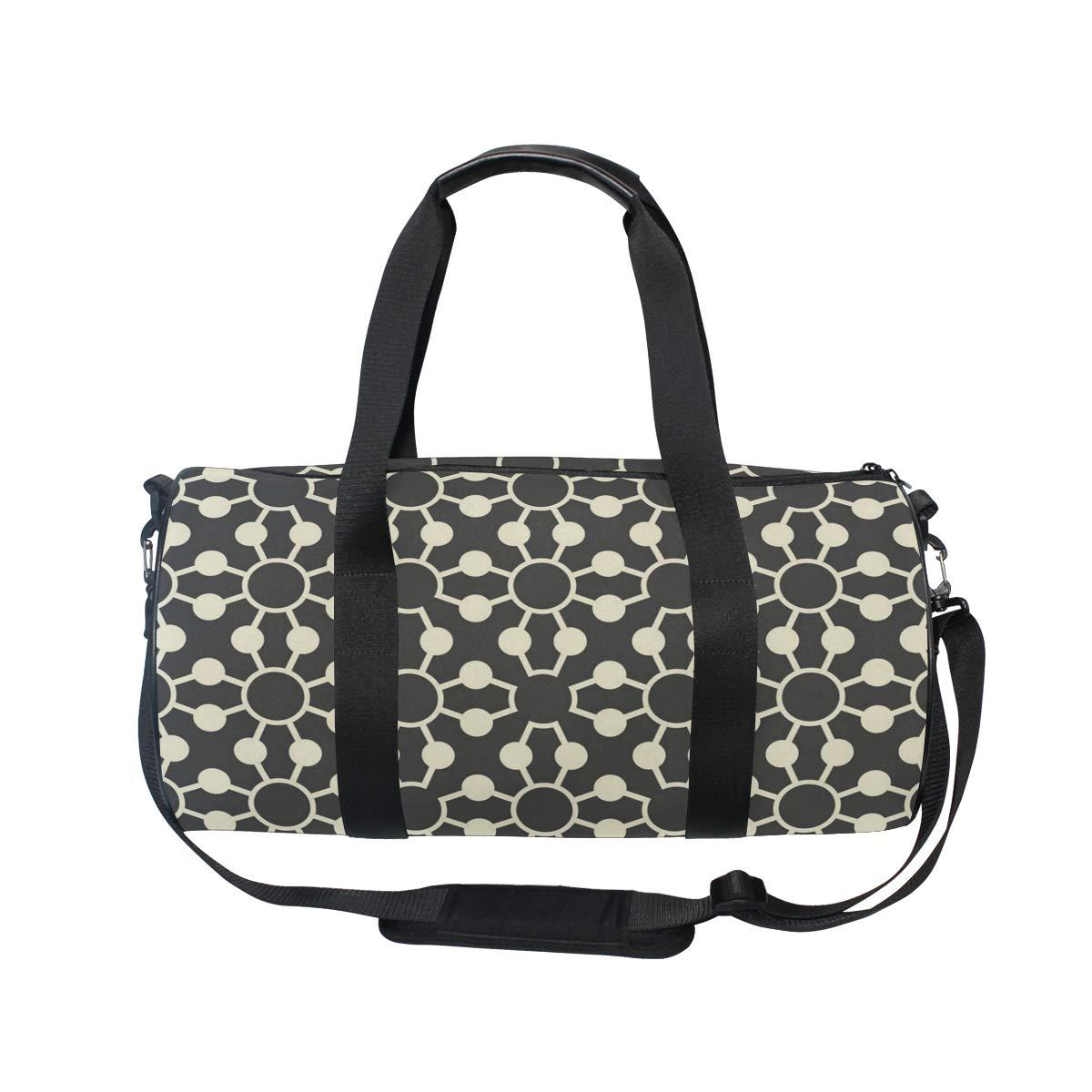 Black Dot Ceramic PictureWaterproof Non-Slip Wearable Crossbody Bag fitness bag Shoulder Bag