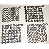 Stainless Steel Snaps, Dot Brand, 50 of Each Piece