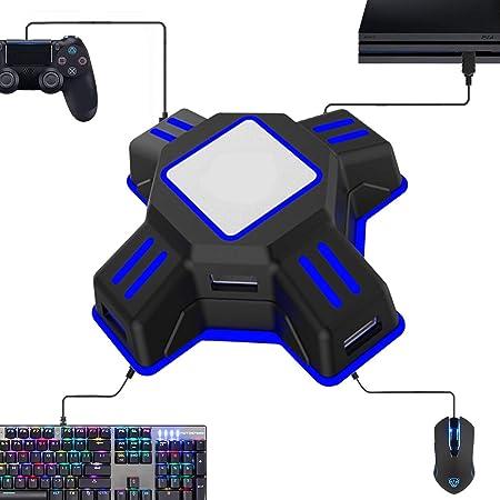 Maus Tastatur Adapter Für Playstation 4 Tastatur Und Maus Konverter Für Ps4 Xbox One Switch Ps3 Pc Amazon De Computer Zubehör