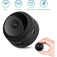 WIFI HD 1080P Mini Camera, Wireless Indoor Security Nanny Cam Baby Monitors with Motion Detection Night Vision Compatible with iPhone/Android Phone/iPad