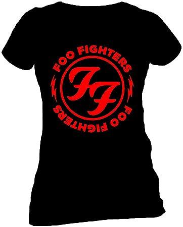 huge selection of cae54 59b74 FOO Fighters Red Circle Skinny Damen T-Shirt Offizielles Lizenzprodukt