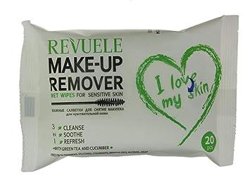 revuele Make Up Remover facial piel sensible toallitas húmedas 20: Amazon.es: Belleza