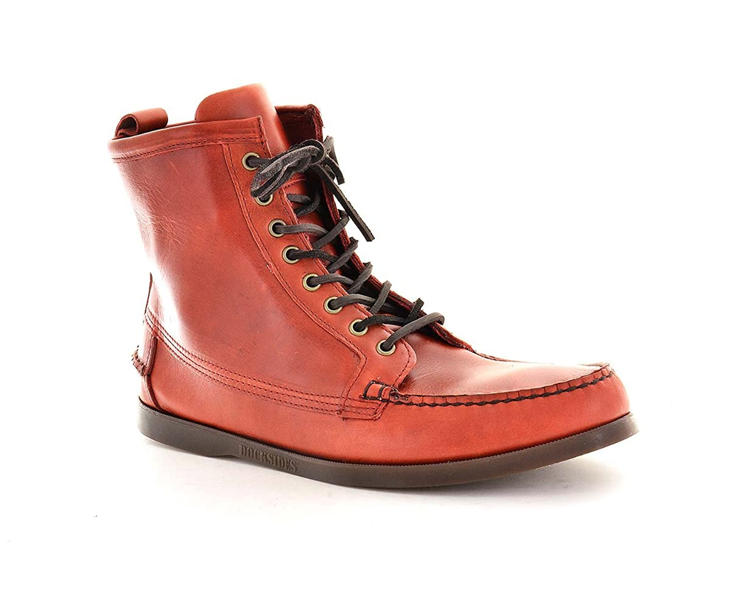 5d1c21b7ad1 lovely Sebago Mens Ankle Boots B73100 Se1 Red Leather - toprace.co.uk