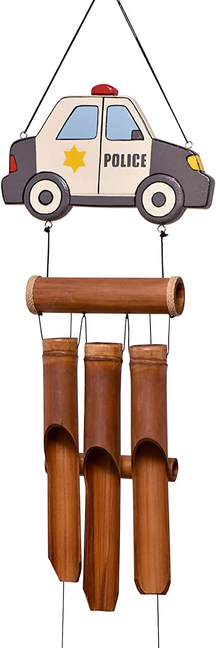 Cohasset Gifts 236 Cohasset Motorcycle Bamboo Wind Chime Hand Painted Red Garden Outdoor