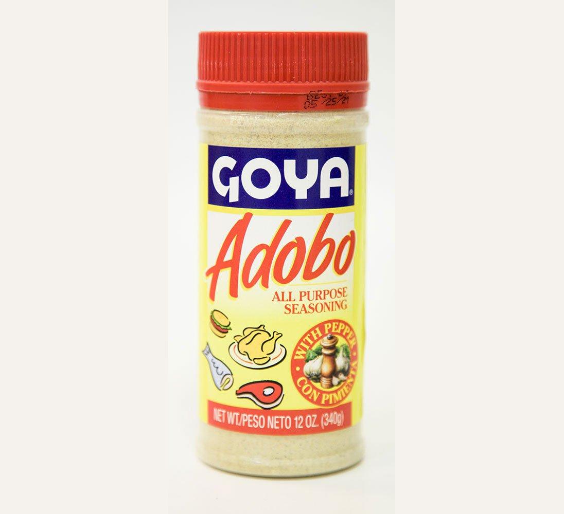 Amazon Com Goya Adobo All Purpose Seasoning With Pepper 12 Oz Gourmet Seasoned Coatings Grocery Gourmet Food