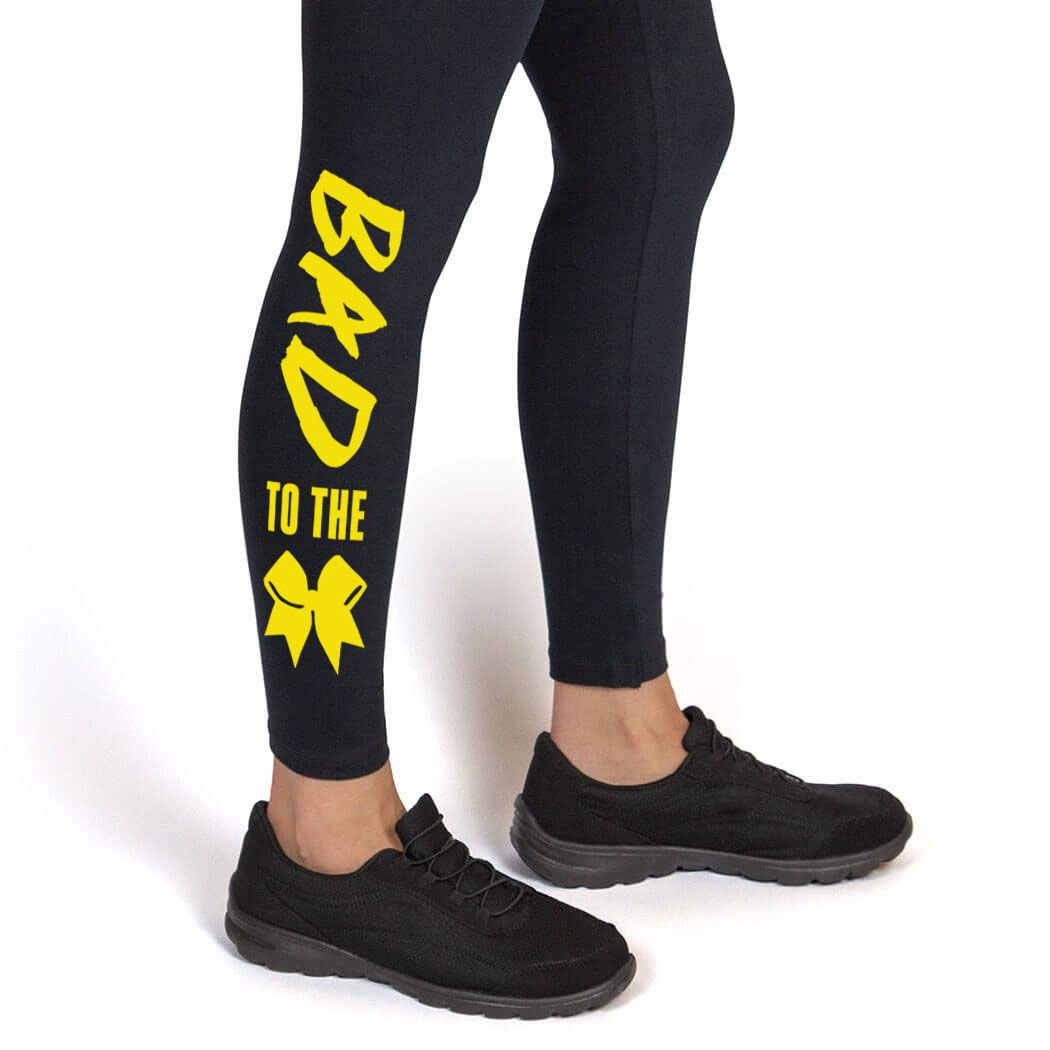 Multiple Colors Cheerleading Leggings by ChalkTalk SPORTS Youth To Adult Sizes Bad to the Bow Leggings