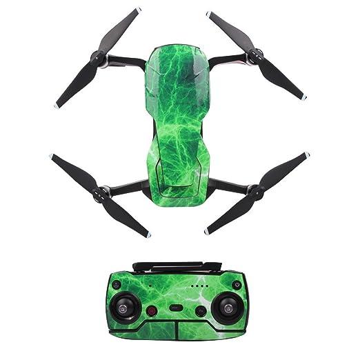 QUNANEN Calcomanías 3D de PVC Impermeables para dron dji Mavic Air ...