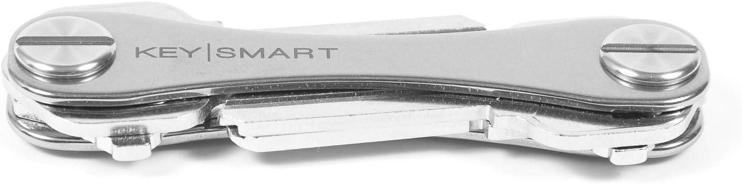 KeySmart Classic - Compact Key Holder and Keychain Organizer (up to 8 Keys, Titanium)