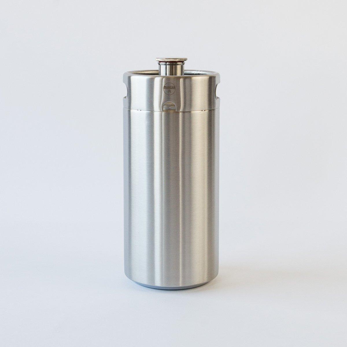 ManCan Picnic Keg | 128 oz. Stainless Steel Keg-style Growler MANCAN UNIVERSE INC 008