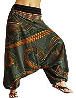 Pantalones bombachos hombre y mujer virblatt con tejidos tradicionales talla única pantalones cagados con patrones pintados a mano, S - L ropa hippie - Traumfänger
