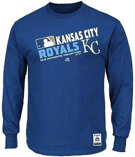 cfa9a234868 Majestic Kansas City Royals MLB Mens Long Sleeve Team Choice Shirt Royal  Blue Big & Tall