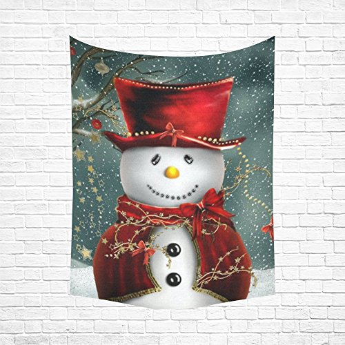 JC-Dress Tapestry Wall Hanging Merry Christmas Snowman Cotton Linen Wall Tapestry 60x 80 (Wall Tapestry Snowman)