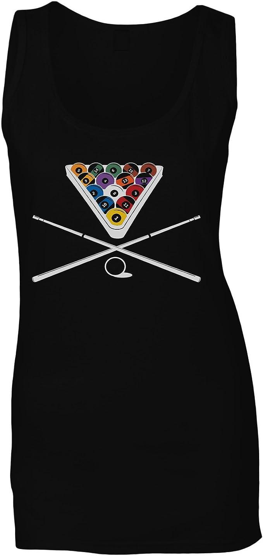 Snooker Game Billar Camiseta sin Mangas Mujer u543ft: Amazon.es ...