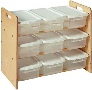 product image for Little Colorado Nine Bin Toy Organizer, Unfinished