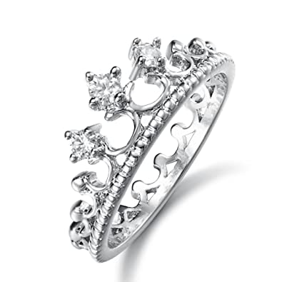 0cbc17ebe Buy Yellow Chimes Crystals from Swarovski Exclusive Silver Crystal Crown  Ring for Women and Girls Online at Low Prices in India | Amazon Jewellery  Store ...