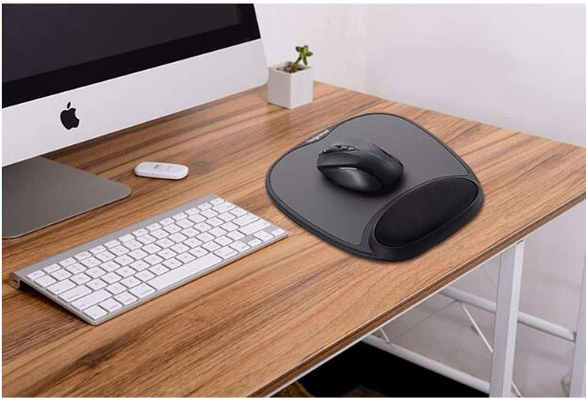 HENGTONGTONGXUN Mouse Pad Wrist Mouse Pad Comfortable Ergonomic Mouse Pad Color : Black Black Mouse pad Wrist Support