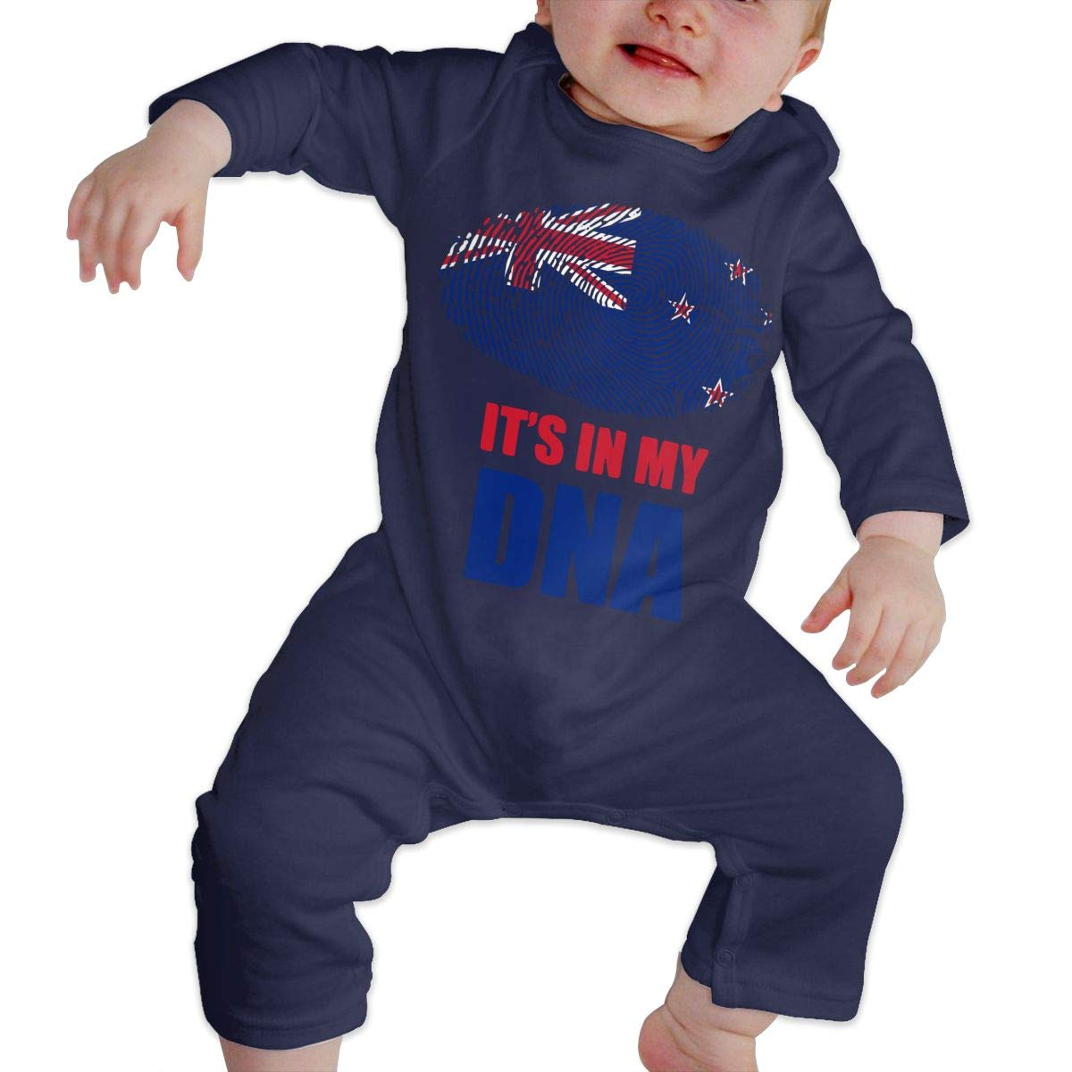 New Zealand Its in My DNA Newborn Toddler Baby Essential Basic Romper Jumpsuit Outfits Clothes