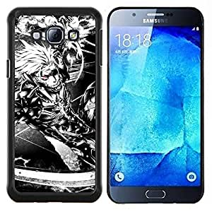 EJOOY---Cubierta de la caja de protección para la piel dura ** Samsung Galaxy A8 A8000 ** --Ciber Guerrero