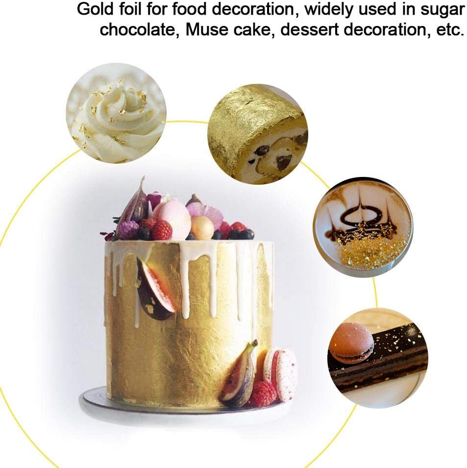 Sundlight Bottled Extra Thick Gold Foil Origami Paper for Cooking Cake and Chocolate Decoration 10 ml