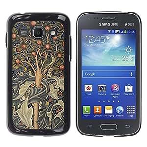 TopCaseStore / la caja del caucho duro de la cubierta de protección de la piel - Tree Art Indian Painting Abstract - Samsung Galaxy Ace 3 GT-S7270 GT-S7275 GT-S7272