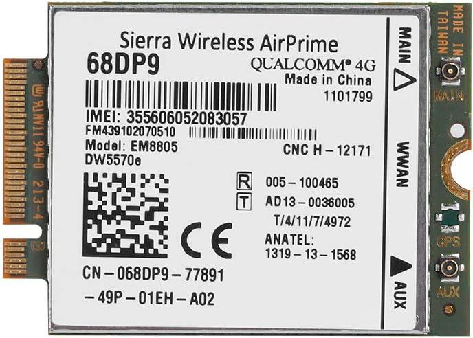 HSDPA HSUPA WCDMA for Dell Venue 8 Mavis Laven NGFF//M.2 Network Card Module EM8805 3G 4G WWAN Card DW5570E DC-HSPA HSPA Venue 11 Pro Dell 7404 Rugged Extreme,etc