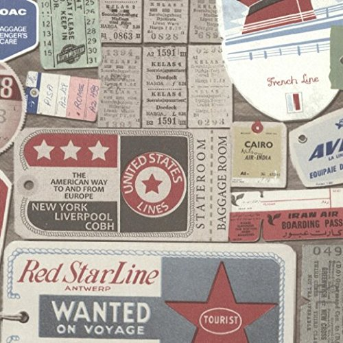 FD21268 - Oxford Souvenir Travel Multi Wallpaper by Fine Decor by Fine Decor