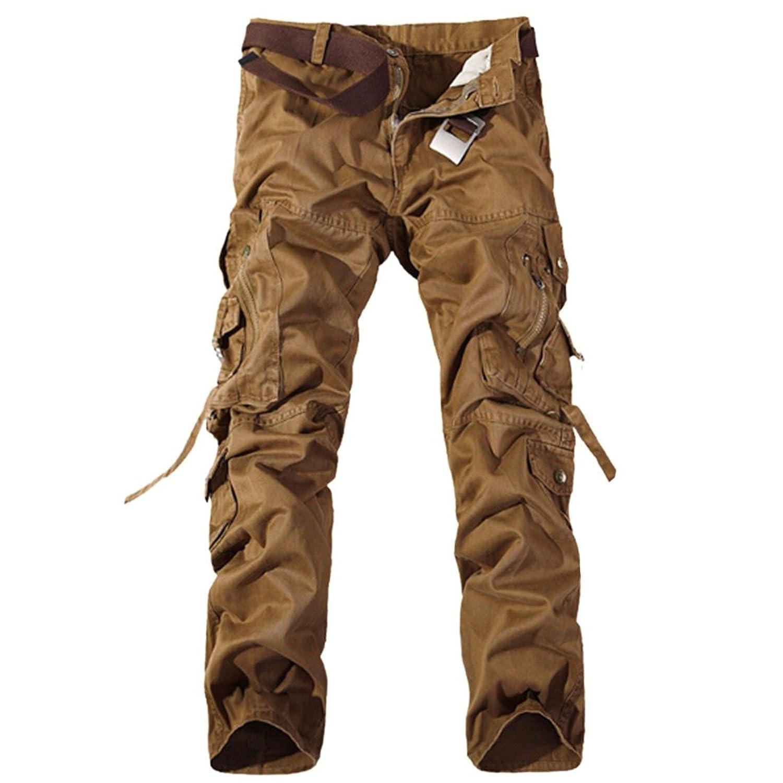 Faddish Men Army Military Combat Washable Multi-Pocket Pants Overalls Trousers