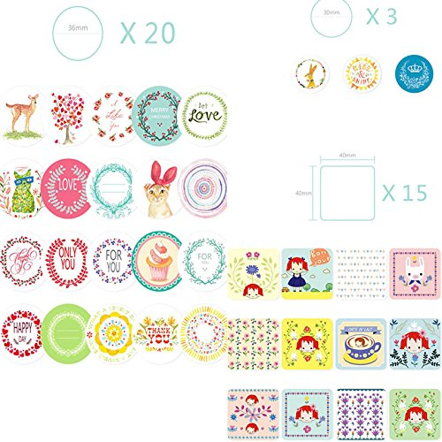 Shalleen 38 pcs/bag DIY Cute Kawaii Scrapbook Paper Stickers Crafts and Scrapbooking (Tractor Scrapbook Paper)