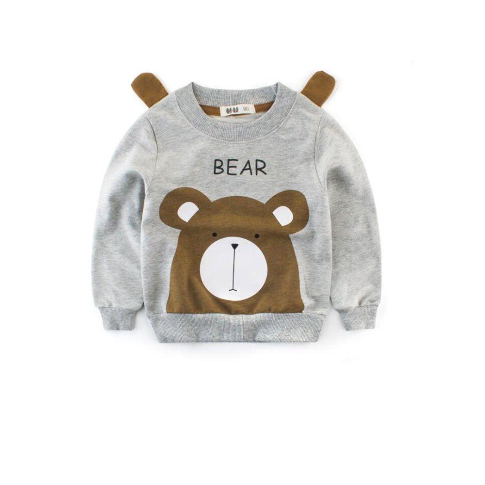 CuteOn Little Kids Cartoon Tops Crewneck Long Sleeve Pullover Sweatshirts