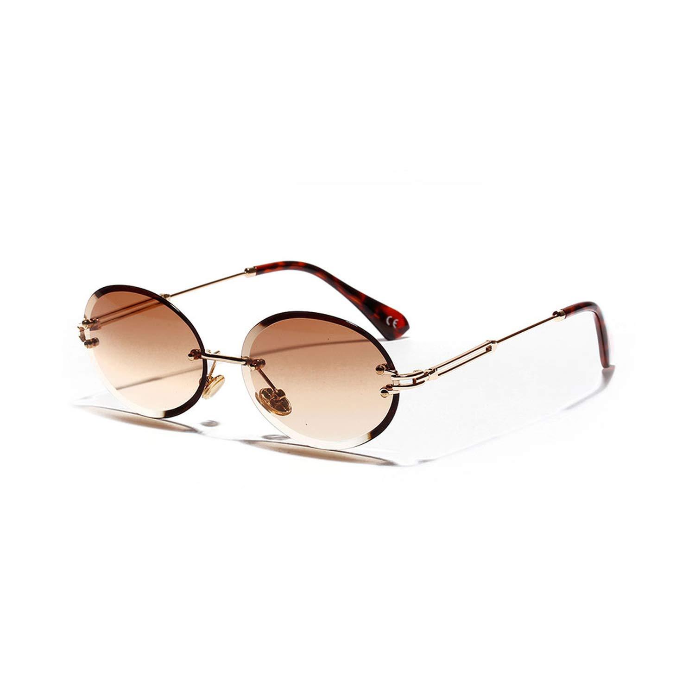 Amazon.com: Gafas de sol ovaladas Rimless 2019 para hombre ...