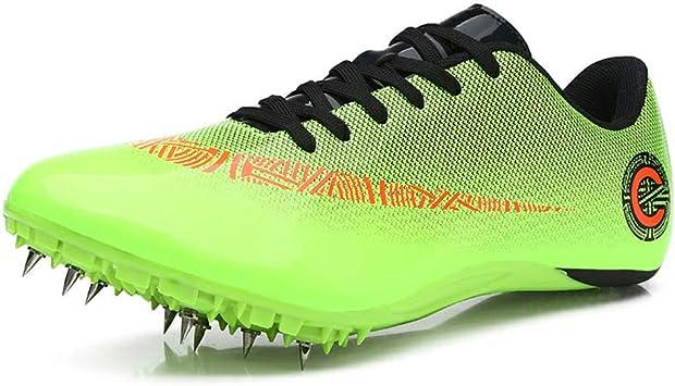 Zapato De Sprint Profesional para Atletismo para Jóvenes, 8 Clavos para Atletismo En Pista Y Campo Zapatos para Correr Entrenamiento De Salto Largo Zapatilla De Atletismo,006,44EU: Amazon.es: Deportes y aire libre