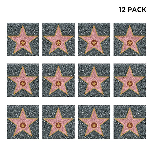(12 Pack) Personalize Your Own Hollywood Stars of Fame Decor -