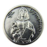Religious Catholic Gift Saint St Dymphna Patron Mental Illness Pocket Token