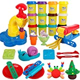Play Dough Tool Set 26Pcs Art Modeling Clay Kit with Molds, Ice Cream Maker and Dough Extruder for Kids, Toddlers, Boys and Girls