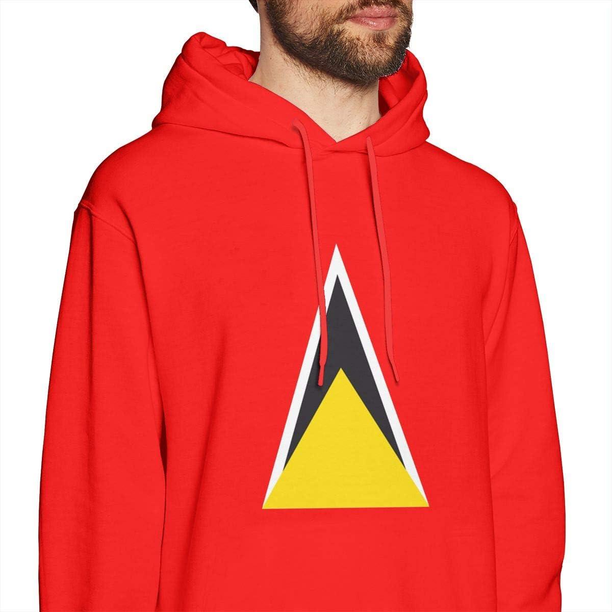 Mens Hoodies Saint Lucias Flag Best Pullover Hooded Print Sweatshirt Jackets
