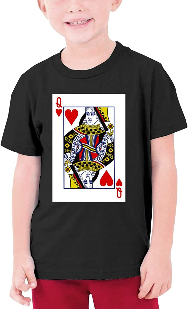 ACFUNEJRQ King and Queen Poker Cards Mens Cotton Round Neck Short Sleeve T-Shirts
