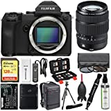 Fujifilm GFX 50S Medium Format Digital Camera Body with 32-64mm f/4.0 Lens + 128GB Card + Backpack + Battery & Charger + Tripod + Filters Kit