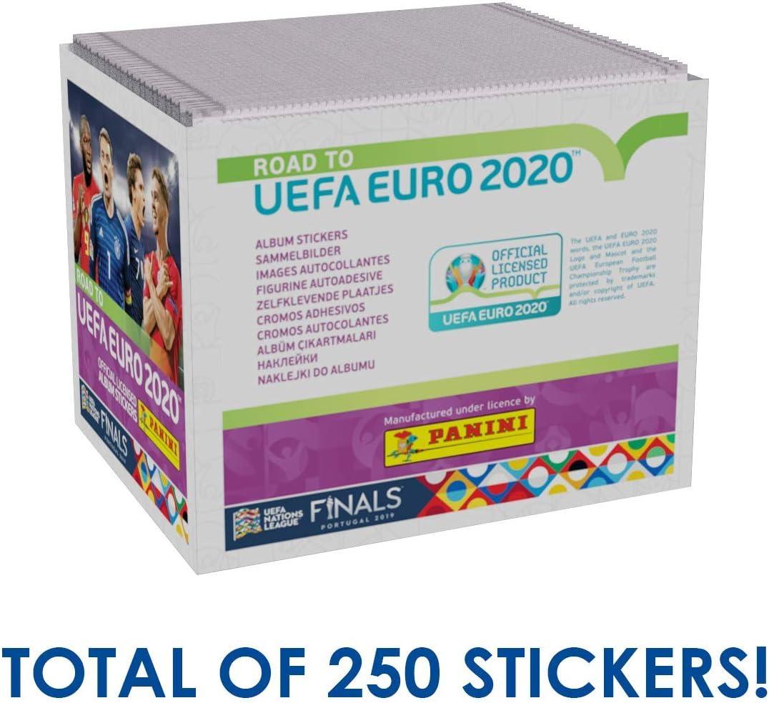 Panini Road to UEFA Euro 2020 Caja de Pegatinas coleccionables ...
