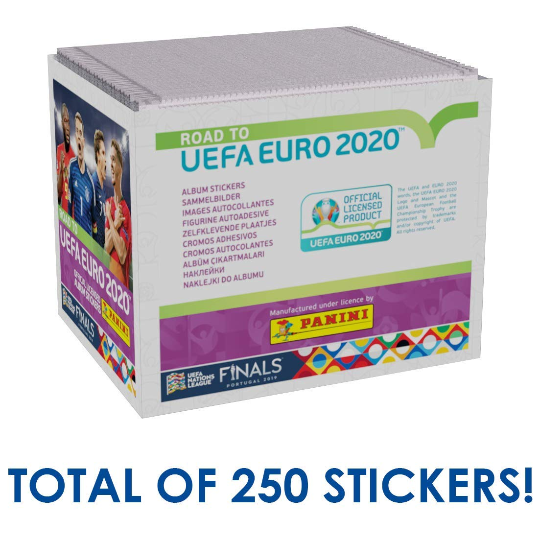Paquete de 50 Panini Road to UEFA Euro 2020 Caja de Pegatinas coleccionables