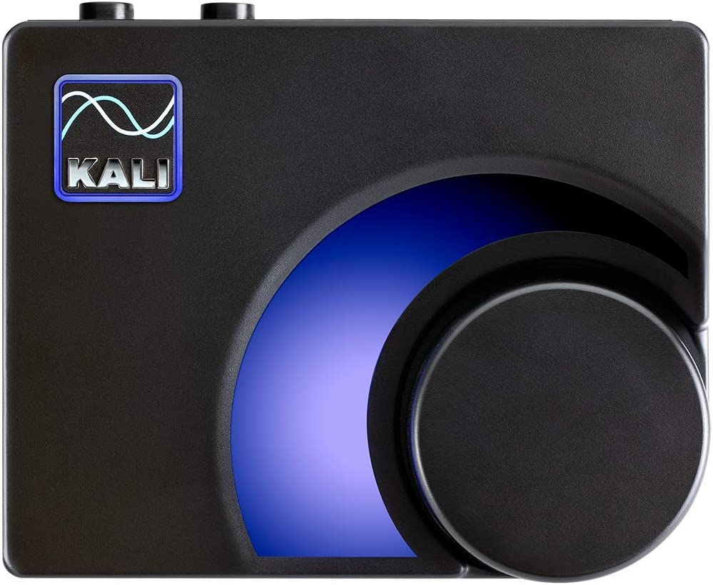Kali Audio MV-BT Professional Controlador de Monitor & Bluetooth Receiver - Transmisor de Audio inalámbrico (Adaptador Bluetooth, Salida estéreo XLR/Jack de 6,3 mm, medidor LED) Negro