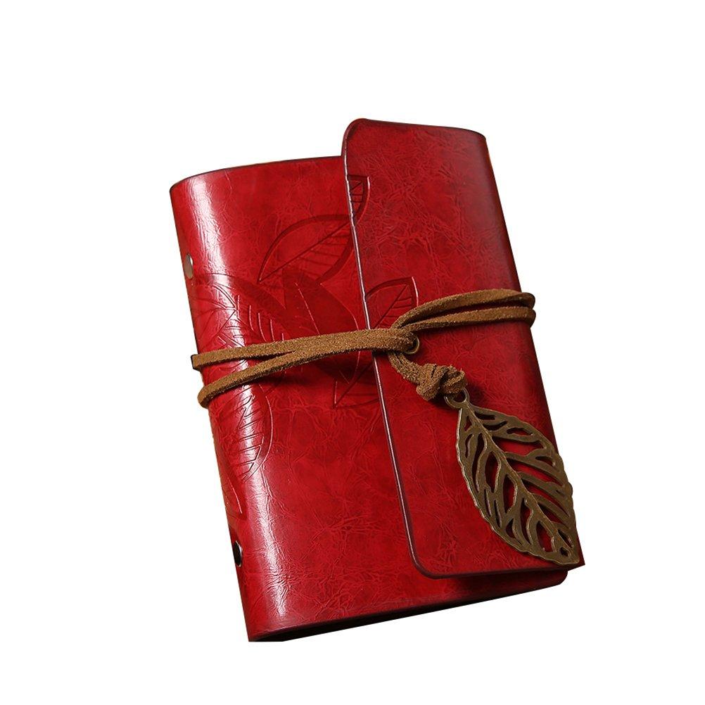 Pixnor Kartenschutz Ä rmel Blatt Design Imitation Leder Karte Pack Halter Kartenschutz Tasche weinrot