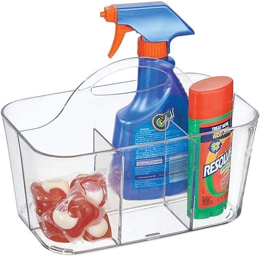 mDesign organizador plástico con 4 compartimentos para su lavadero ...
