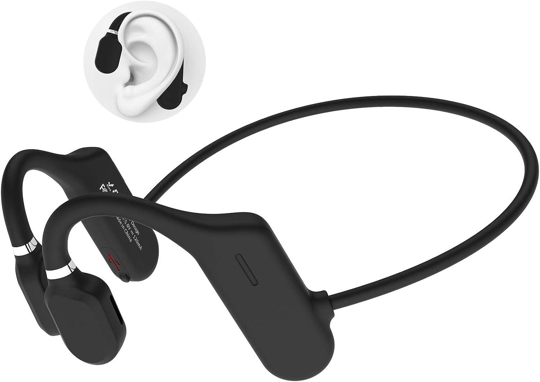 ALOVA Bluetooth Headphones with Mic, Open Ear Headphones Bluetooth 5.0 Sport Headset Waterproof IPX5 Ultra-Lightweight 18 Grams 6D Sound HD Phone Call