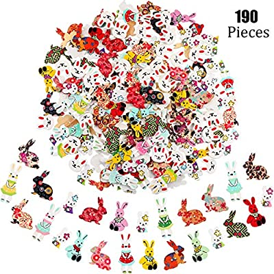 25 Buttons Easter Bunny Rabbit Novelty Sewing Buttons