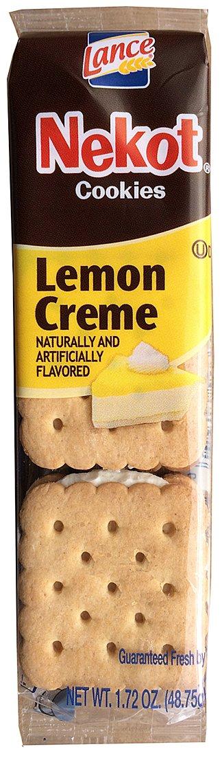 Lance Nekot Cookies Lemon Creme Flavor 1.72-Ounce 6-Cookies Packs (Box of 60 packs)