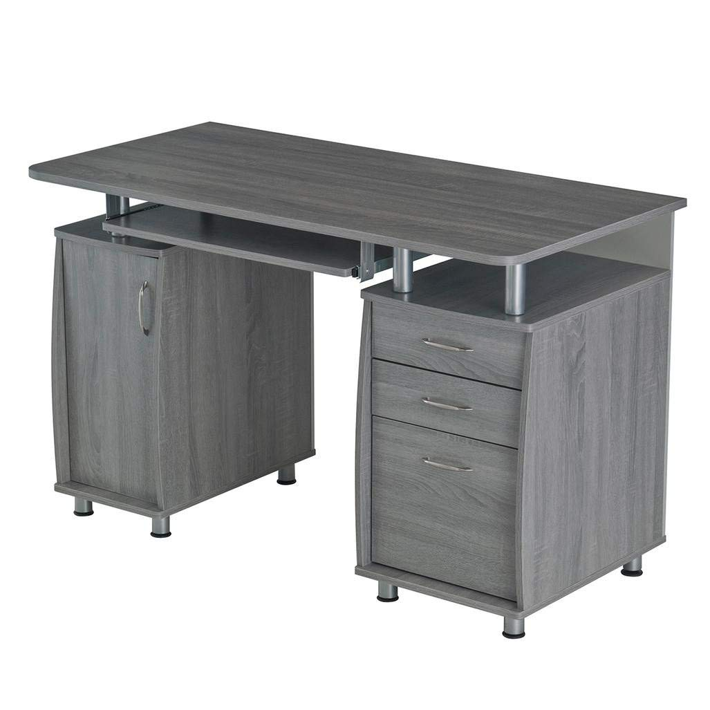 L Shaped Desk Ikea For Saving Area Resolution Techni Mobili Complete Workstation Computer Desk with Storage - Grey  product image
