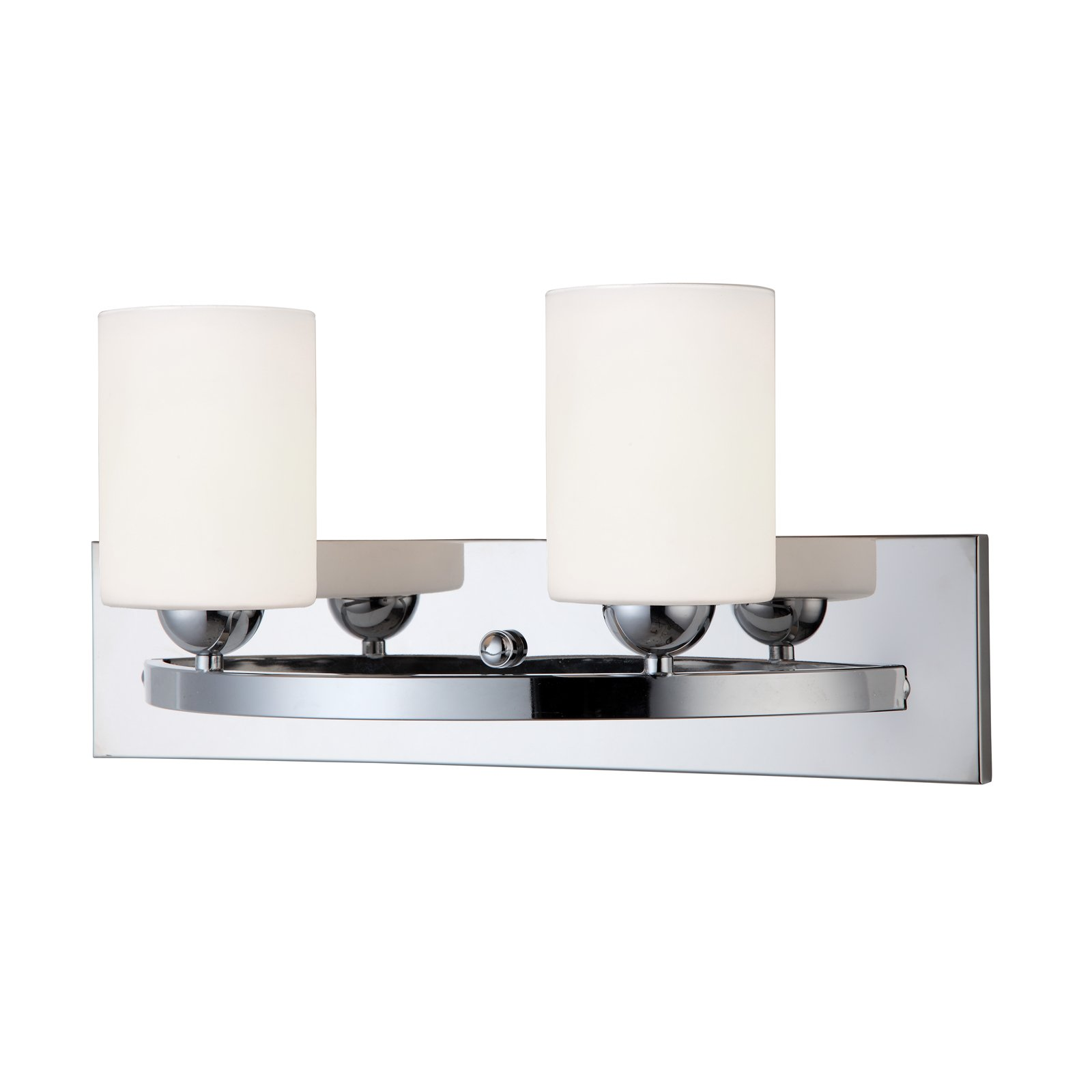 Chrome 2 Globe Vanity Bath Light Bar Interior Lighting Fixture by HowPlumb (Image #1)