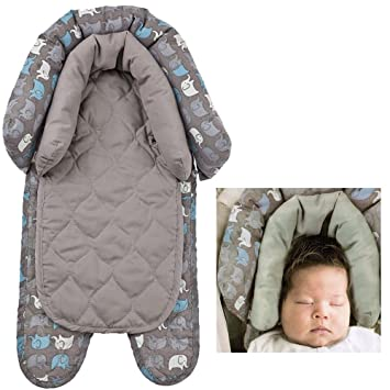 Grey Padding Infant Baby Newborn Head Neck Support For Car Seat Carrier Stroller